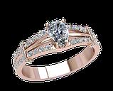 Кольцо женское серебряное Андромеда 21312, фото 2