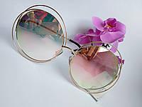 Женские солнцезащитные очки Chloe зеркальные металлические пудра (082), фото 1