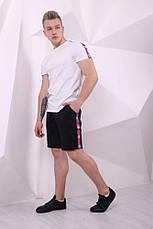 Мужские спортивные шорты с лампасами в стиле Champion 2 цвета в наличии, фото 3