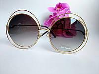 Женские солнцезащитные очки Chloe черного цвета круглые (085), фото 1
