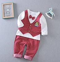 Нарядный костюм для мальчиков красный