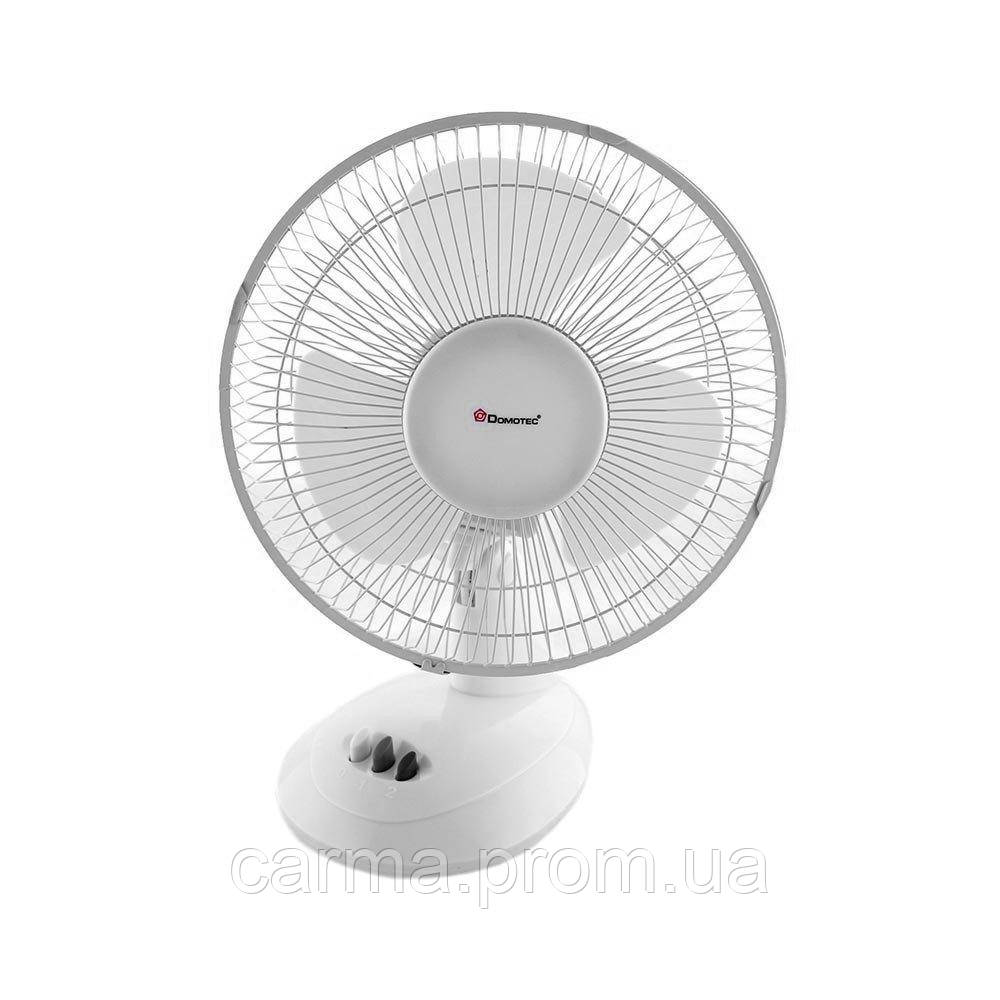 Вентилятор настольный DOMOTEC MS-1625 3 режима Белый