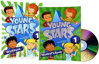 Английский язык / Young Stars / Student's+Workbook+CD. Учебник+Тетрадь (комплект), 1 / MM Publications