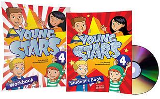 Английский язык / Young Stars / Student's+Workbook+CD. Учебник+Тетрадь (комплект), 4 / MM Publications