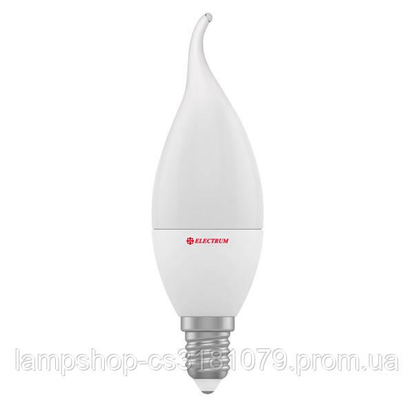 Лампа светодиодная свеча на ветру LC-12 6W E14 4000K алюмопл. корп. A-LC-0957