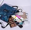 Женский городской рюкзак с клапаном геометрический Бао Бао Алмаз Бронзовый, Bao Bao Issey Miyake 3012, фото 7