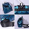 Женский городской рюкзак с клапаном геометрический Бао Бао Алмаз Бронзовый, Bao Bao Issey Miyake 3012, фото 8