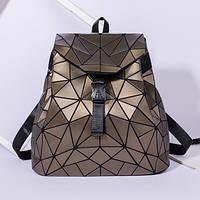 Женский рюкзак Бао Бао Алмаз Бронзовый, Bao Bao Issey Miyake