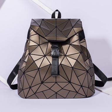 Женский городской рюкзак с клапаном геометрический Бао Бао Алмаз Бронзовый, Bao Bao Issey Miyake 3012
