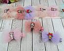 Заколочки для волос бантики 4.5 см с куколками LOL 10 шт/уп., фото 3