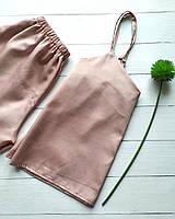 Нежно-розовая женская пижама с шортами и маечкой, фото 1