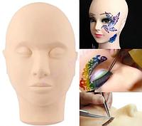 Голова макияжная, тренировочный манекен для обучения (макияж, тату, массаж), фото 1