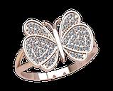 Кольцо женское серебряное Бабочка 21314, фото 2