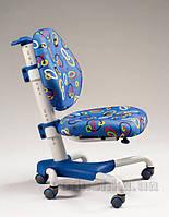 Кресло Mealux Y-718 WB белый металл, обивка синяя с кольцами