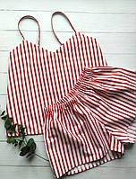 Женская пижама в красную полоску, фото 1