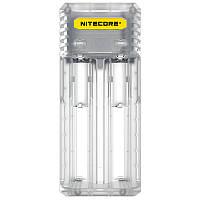 Зарядное устройство Nitecore Q2 двухканальное, прозрачное