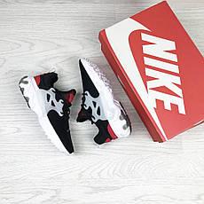 Модные кроссовки Nike air presto  React ,текстиль,черные с красным, фото 3
