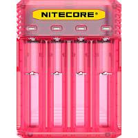 Зарядное устройство Nitecore Q4 четырехканальное, розовое