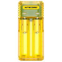 Зарядное устройство Nitecore Q2 двухканальное, желтое