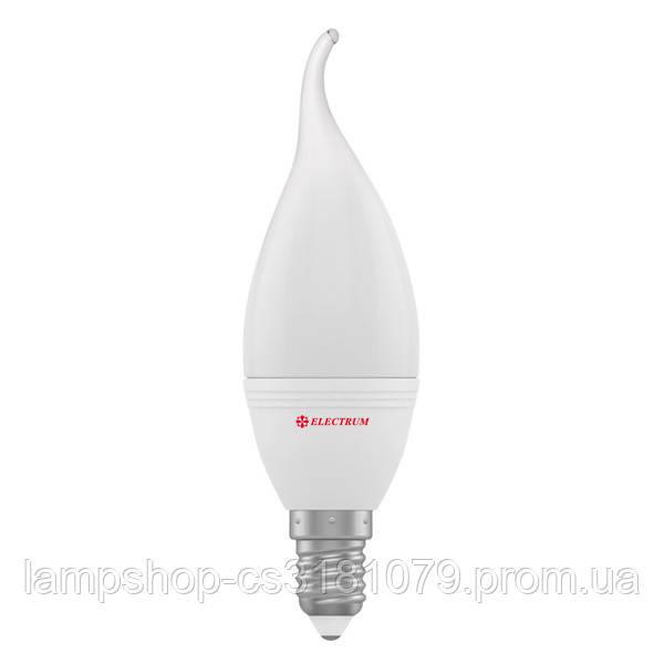 Лампа светодиодная свеча на ветру LC-32 6W E14 4000K алюмопл. корп. A-LC-1374