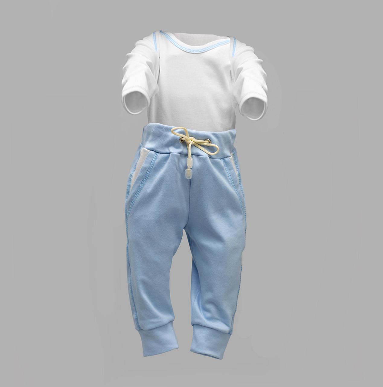 Боди-лодочка с длинным рукавом и штаны для ребенка Интерлок | Боді та штани для дитини