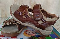 Кожаные ортопедические Сандалии Босоножки на мальчика 23,25,26,27 размер