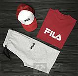 Чоловічий літній костюм Fila (Філа) комплект 3 в 1, фото 6