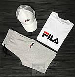 Чоловічий літній костюм Fila (Філа) комплект 3 в 1, фото 7