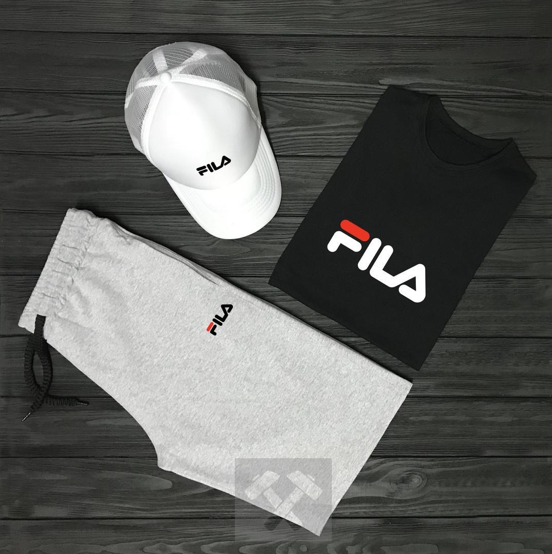 Чоловічий літній костюм Fila (Філа) комплект 3 в 1