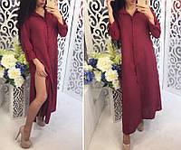 Длинное платье рубашка в расцветках