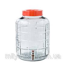 Банка для вина с пластиковым краном, 17,5 л
