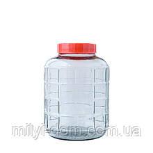 Бутель для вина з кришкою з гідрозатвором, 9.3 л