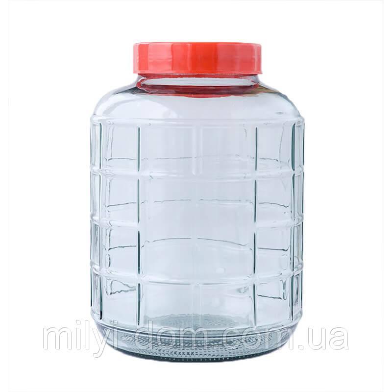 Бутыль для вина с гидравлической крышкой, 17,5 л