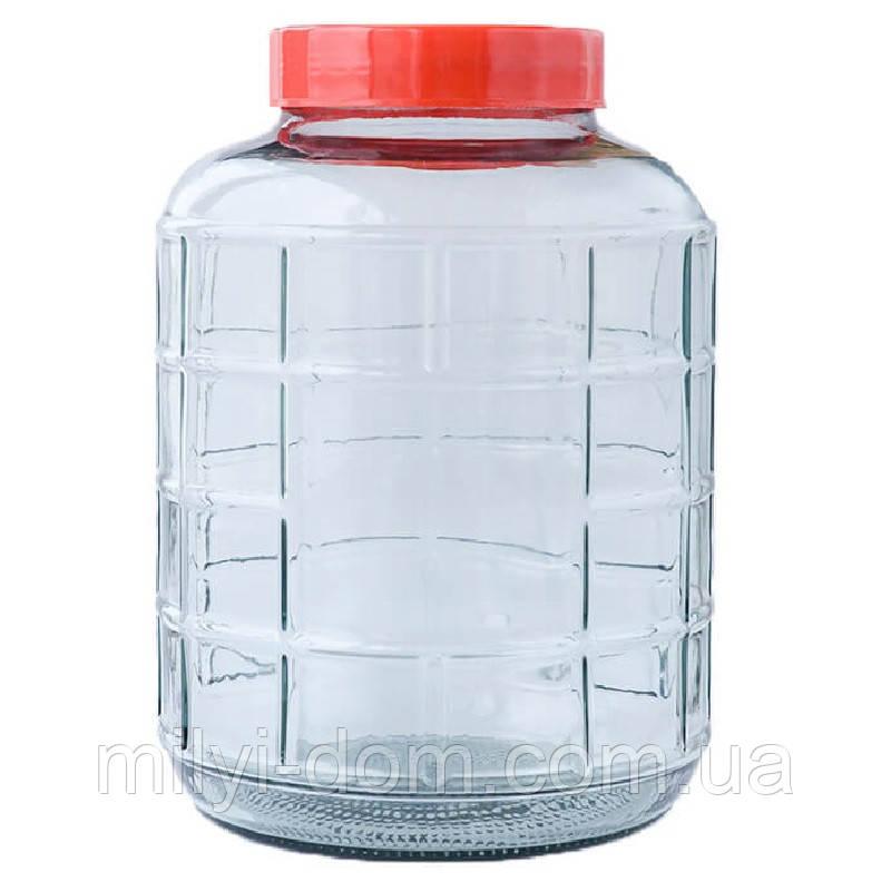 Бутыль для вина с крышкой с гидрозатвором, 24.5 л