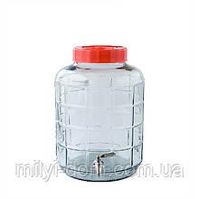 Диспенсер для вина с металлическим краном, 9.3 л