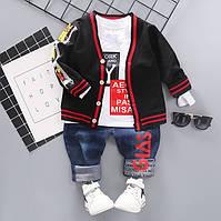 Костюм-тройка для мальчика черный Go Thas 2913