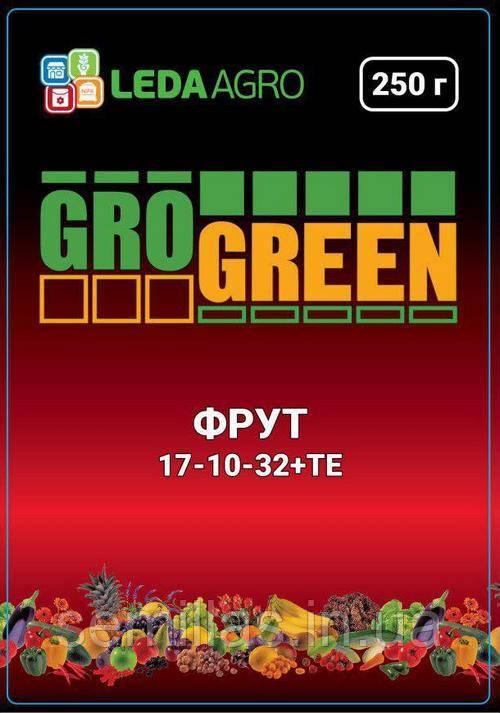 "Удобрение Грогрин Фрут (17-10-32+TE), 250 гр., ТМ ""Леда Агро"""