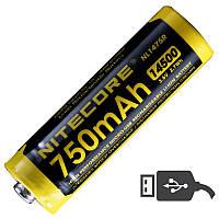 Аккумулятор 14500 (750mAh) Nitecore NL1475R