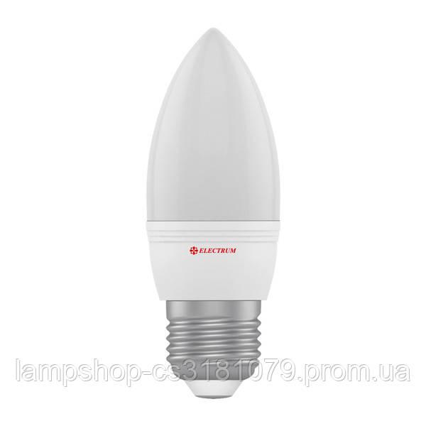 Лампа светодиодная свеча LC-32 6W E27 4000K алюмопластиковый корп. A-LC-1404