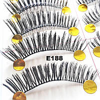 Ресницы с необычным плетением по 10 пар (10 видов) 11, На леске, Ровное