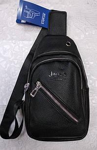 Мужская сумка (кроссбоди) черного цвета, из искусственной кожи