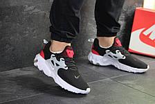 Мужские кроссовки Nike air presto React,текстиль,черно-белые, фото 3
