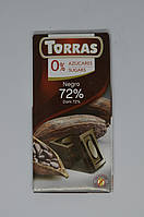 Черный шоколад Torras без сахара 72%, 75 г, фото 1
