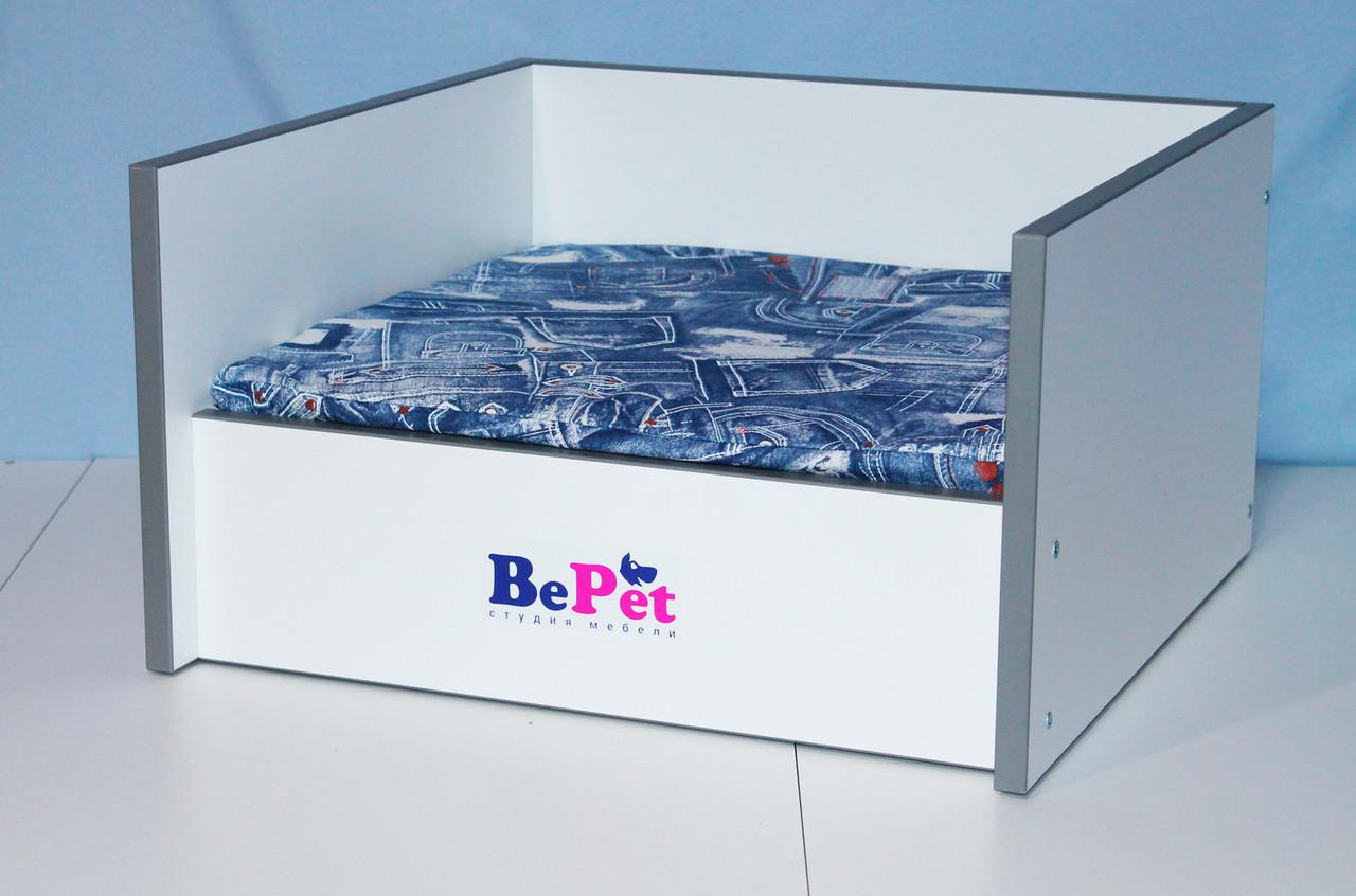 Лежак деревянный для собак и кошек BePet Eco-Silver