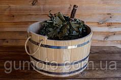 Шайка для бани и сауны дубовая на 15 л