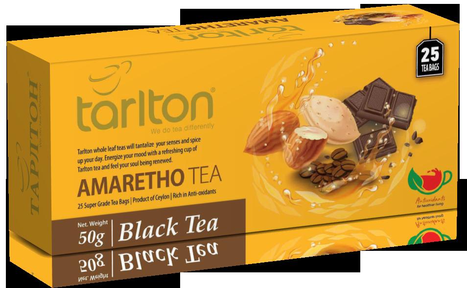 Чай чорний пакетований Тарлтон Amaretho Black Tea зі смаком лікеру 25 пак х 2 м
