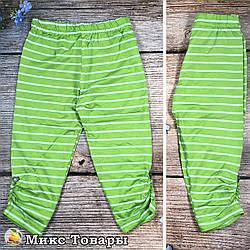 """Дитячі бриджі зеленого кольору """"Камінчики"""" Розміри: 4,5,6,7 років (8646-2)"""
