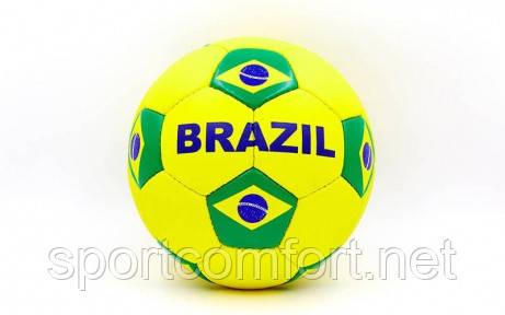 М'яч футбольний №5 Бразилія (5-шаровий ПВХ)