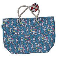 Детская пляжная сумка Единорог для девочки (р. 56x18x38 см) ТМ ARDITEX Синий ZK50194