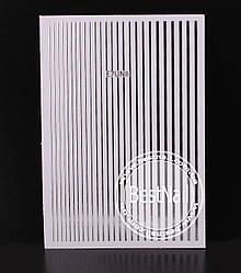 Гибкие ленты для дизайна ногтей ( серебро)